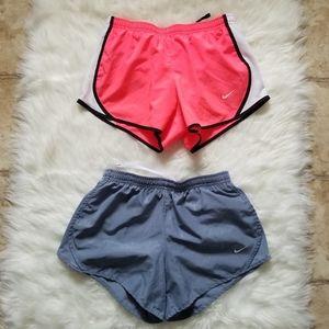 Bundle 2 pairs Nike Dri Fit Running Shorts Girls